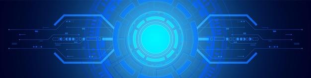 Абстрактный круг цифровой фон, схемотехника