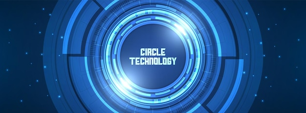 추상 원 디지털 배경 렌즈 기술 중첩 레이어 조명 효과 디자인 개념