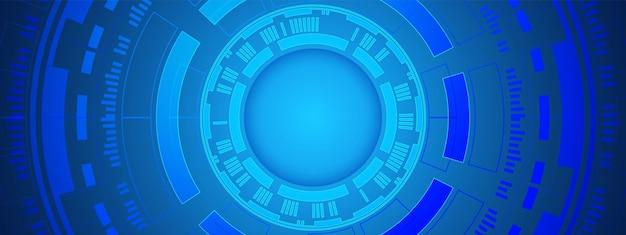 추상적인 원형 디지털 배경, 스마트 렌즈 기술