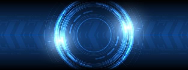 추상 원 디지털, 스마트 렌즈 기술, 화살표 속도 배경, 빈 공간