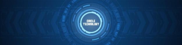추상적 인 원형 디지털 기술 화살표는 배경 스마트 렌즈 겹침 레이어 조명 효과를 가속화합니다.