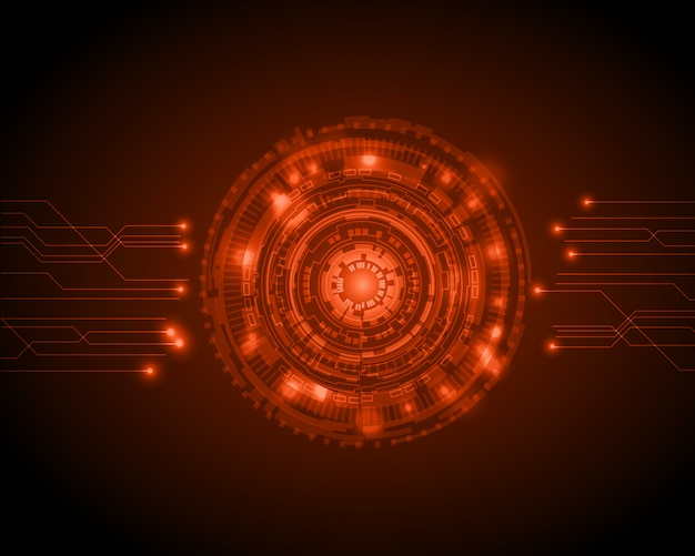 Abstract circle digital technology background