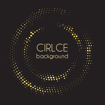 Abstract circle dot on dark background.  illustration
