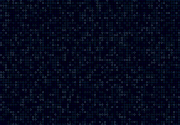青い色の背景のサークルドットパターン設計を抽象化します。