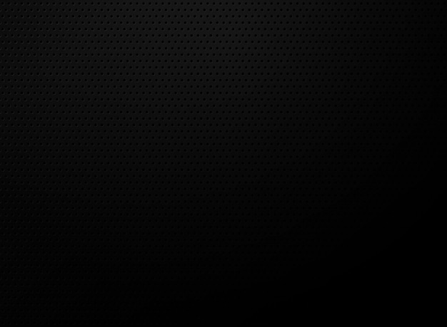 Abstract circle dots pattern tech pattern on gradient black background.
