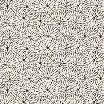 템플릿에 대 한 추상적인 원형 꽃 패턴 배경