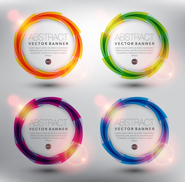 Abstract circle frame collection. isolated on the white surface.