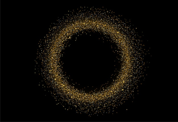 Abstract circle gold glitter texture background