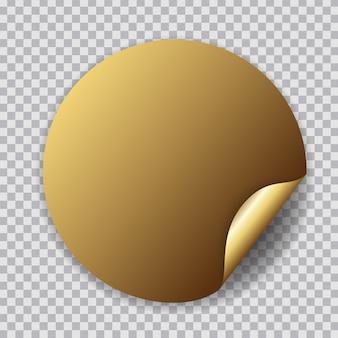 Абстрактный круг золотой стикер
