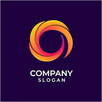 Шаблон логотипа градиент абстрактный круг