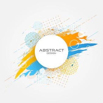 Abstract circle grunge design.