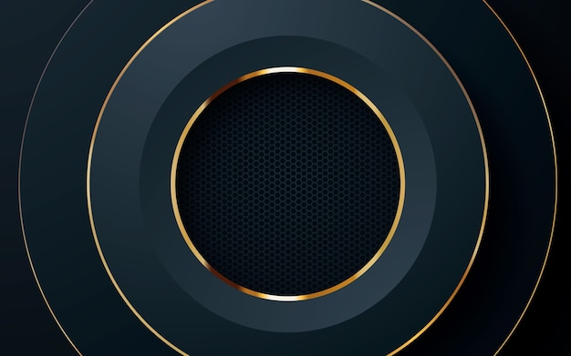 Abstract circle layer black background