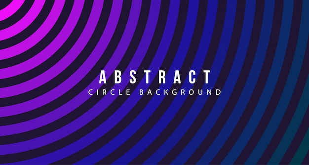 Abstract circle line background