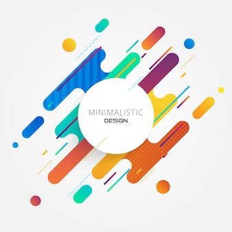 Abstract circle minimal colorful design.
