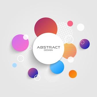Abstract circle modern design.