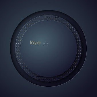 Abstract circle multi layer background.