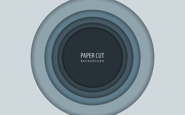 Abstract circle paper cut background