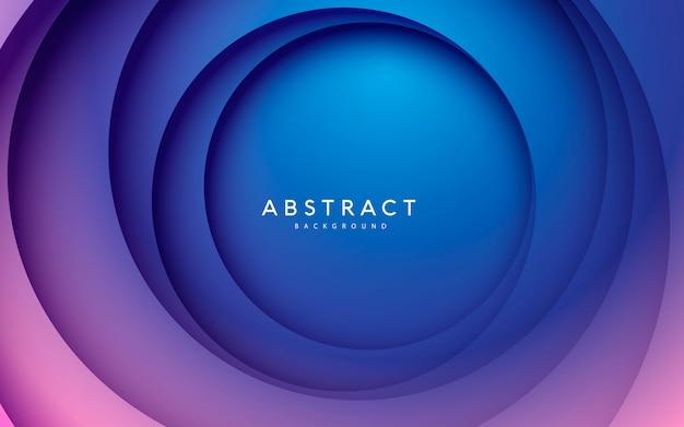 Абстрактный круг papercut гладкая цветовая композиция фон