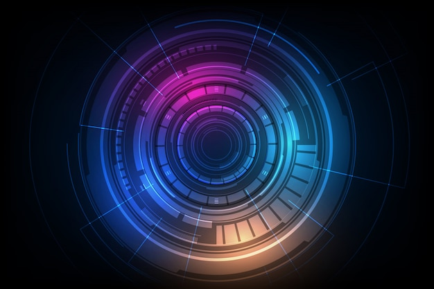 Abstract circle sci fi futuristic technology innovation concept background