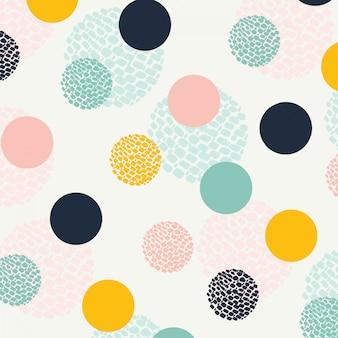 Abstract circle seamless pattern. seamless dots