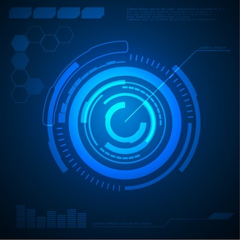 Abstract circle technology background hi-tech