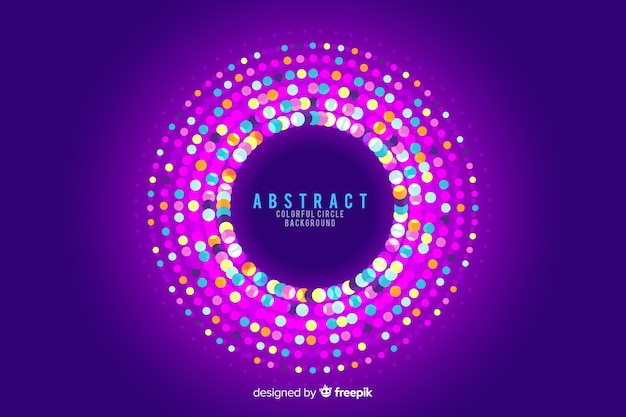 Abstract circles background with round garland colours