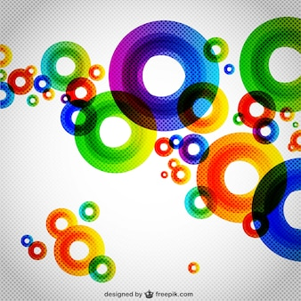 円の抽象画の背景