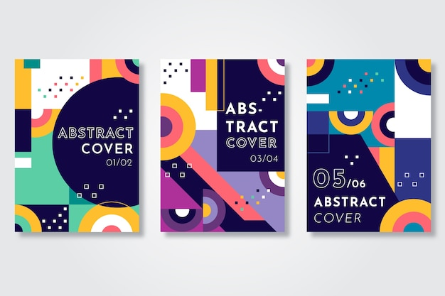 Abstract circles and dots covers template