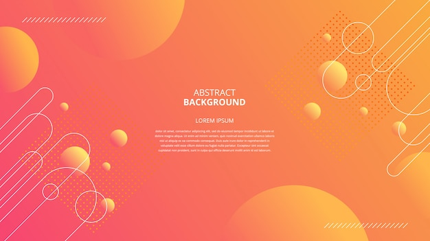 Abstract circles and lines pattern background