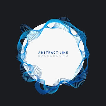 Abstract circles lines round frame design isolated
