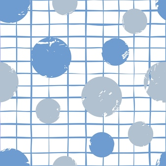 Abstract  circles and triangles seamless pattern
