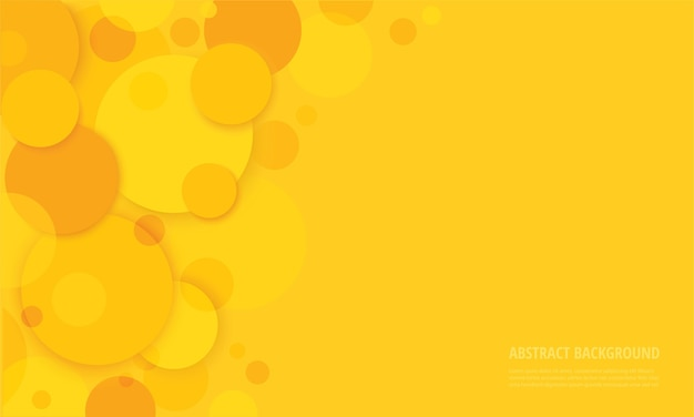 Abstract circles yellow background