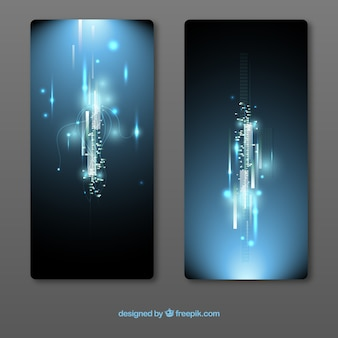 Abstract circuit banners