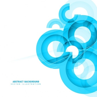 Abstract circular background with polygonal shapes