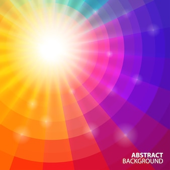 Abstract circular colorful background,  illustration