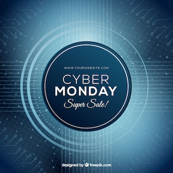 Abstract circular cyber monday design