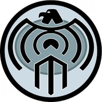 Abstract circular eagle icon