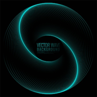 Abstract circular glowing wave background