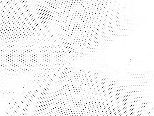 抽象的な円形ハーフトーンデザインの背景ベクトル