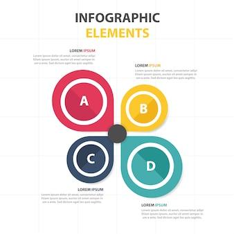 Красочный абстрактный круг бизнес-инфографический шаблон
