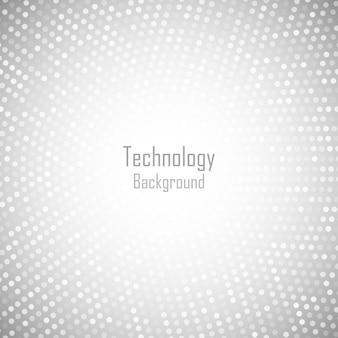 추상적 인 원형 밝은 회색 배경. 기술 회색 디지털