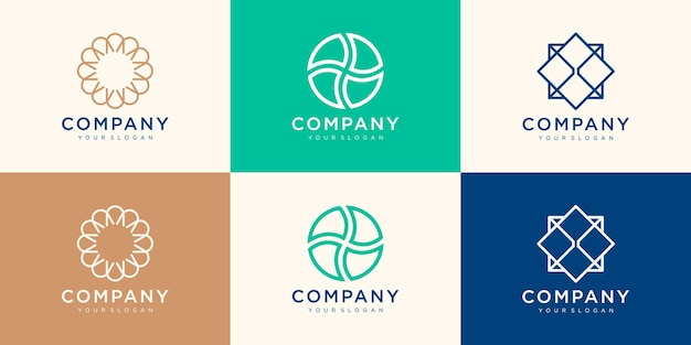 Abstract circular logo design template.
