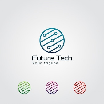 Abstract circular technology logo