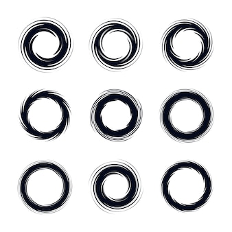 Abstract circular vector set