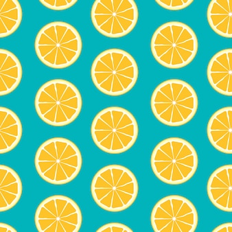 Abstract citrus seamless pattern background