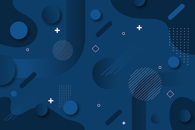 Abstract classic blue background design