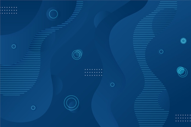 Abstract classic blue background with wavy and dots