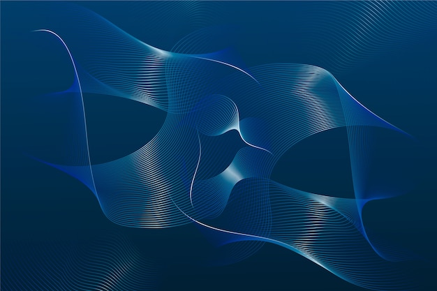 Abstract classic blue background with wavy lines
