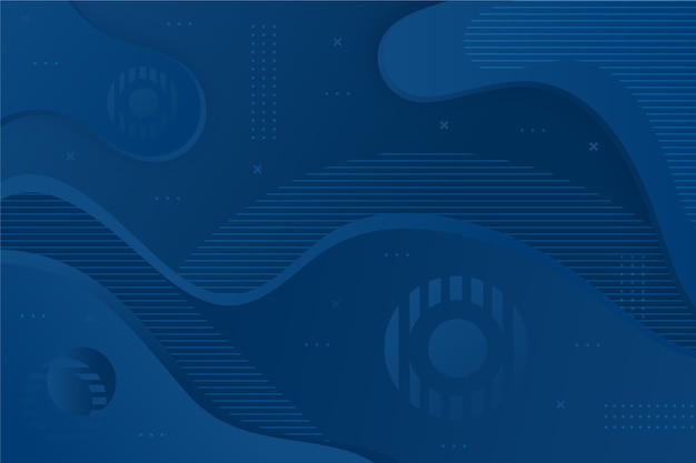 Abstract classic blue background with wavy shapes
