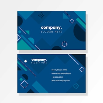 Abstract classic blue business card template set
